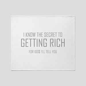 Secret To Getting Rich Stadium Blanket
