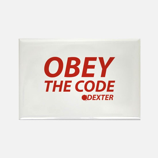 Obey The Code Dexter Rectangle Magnet