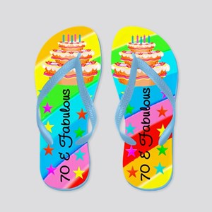 COLORFUL 70TH Flip Flops