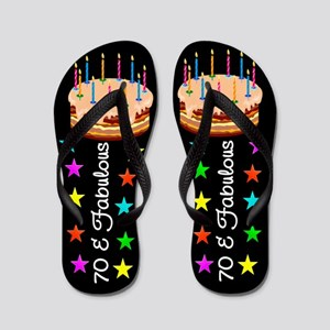 ELEGANT 70TH Flip Flops