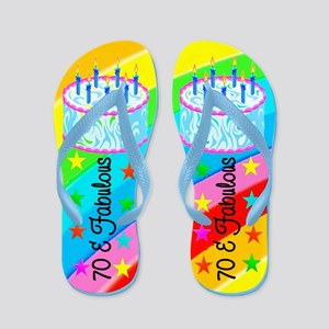 HAPPY 70TH Flip Flops