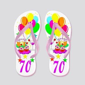UNIQUE 70TH Flip Flops