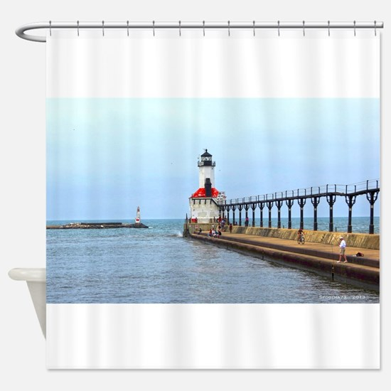 Michigan City Lighthouse Shower Curtain