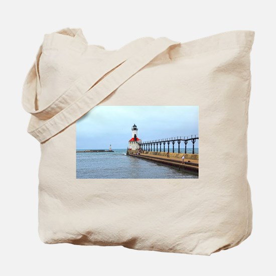 Michigan City Lighthouse Tote Bag
