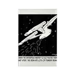 Space Cartoon 8878 Rectangle Magnet