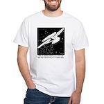 Space Cartoon 8878 White T-Shirt