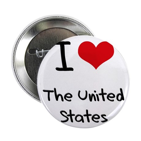 """I love The United States 2.25"""" Button"""
