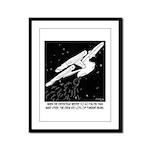Space Cartoon 8878 Framed Panel Print