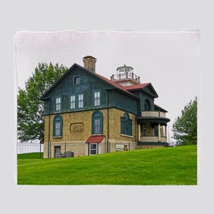 Old Michigan City Lighthouse Throw Blanket