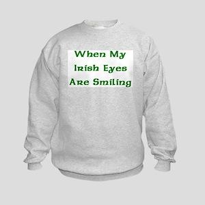My Irish Eyes Kids Sweatshirt
