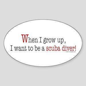 ... a scuba diver Oval Sticker
