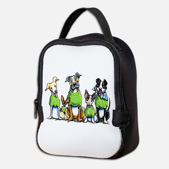 Adopt Shelter Dogs Neoprene Lunch Bag