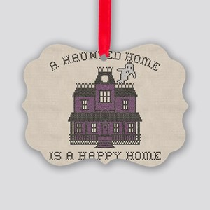Haunted Home Happy Home Picture Ornament