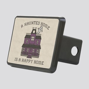 Haunted Home Happy Home Rectangular Hitch Cover