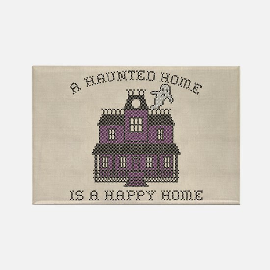 Haunted Home Happy Home Rectangle Magnet
