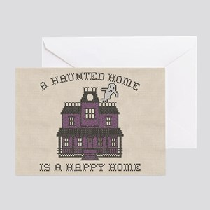 Haunted Home Happy Home Greeting Card