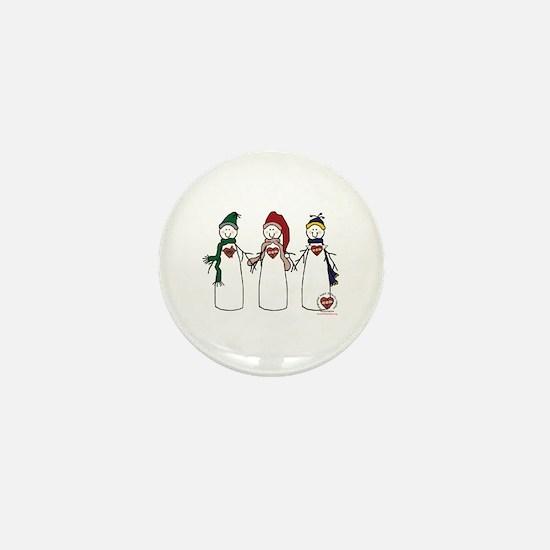 """""""Snowmen"""" Mini Button"""