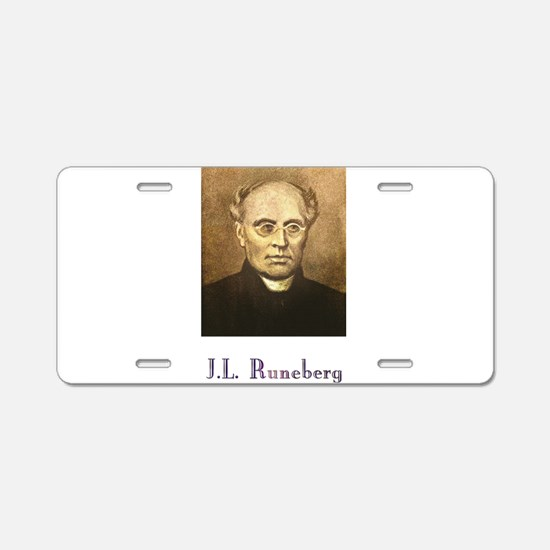 J.L. Runeberg w text Aluminum License Plate