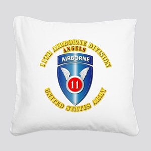 Army - 11th Airborne Division Square Canvas Pillow