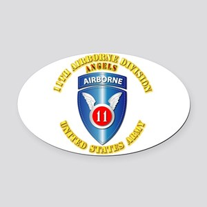 Army - 11th Airborne Division Oval Car Magnet