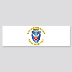 Army - 11th Airborne Division Sticker (Bumper)