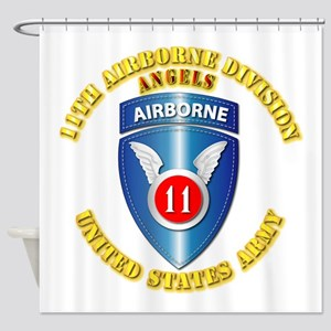 Army - 11th Airborne Division Shower Curtain
