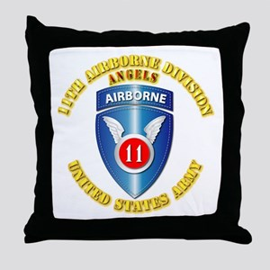 Army - 11th Airborne Division Throw Pillow