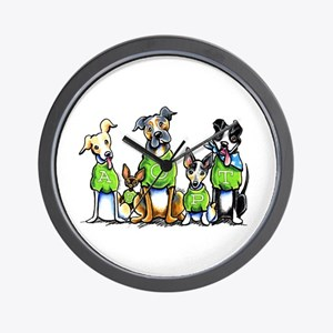 Adopt Shelter Dogs Wall Clock