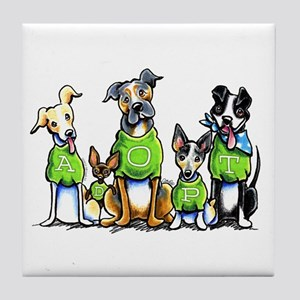 Adopt Shelter Dogs Tile Coaster