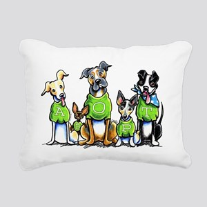 Adopt Shelter Dogs Rectangular Canvas Pillow