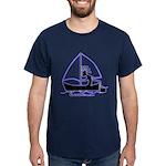 sailing 2000X2000 glow on transparent T-Shirt