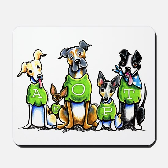 Adopt Shelter Dogs Mousepad