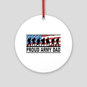 Proud Army Dad Ceramic Ornament