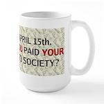 Debt 2 Society Large Mug