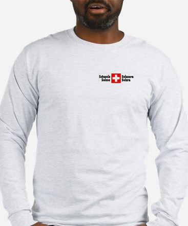 National Flag Long Sleeve Ash Grey T-Shirt