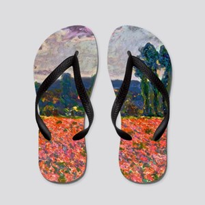 Monet - Poppy Field Flip Flops