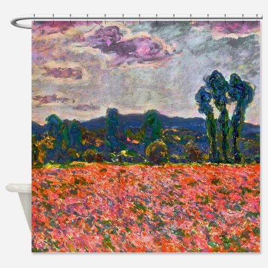 Monet - Poppy Field Shower Curtain