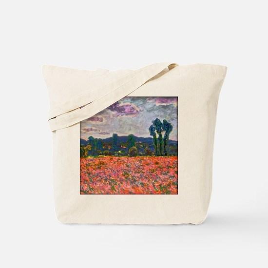 Monet - Poppy Field Tote Bag