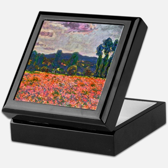 Monet - Poppy Field Keepsake Box