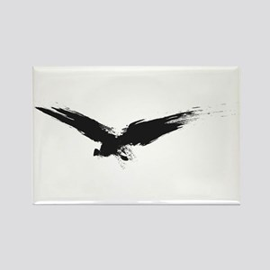 Black Grunge Raven Rectangle Magnet