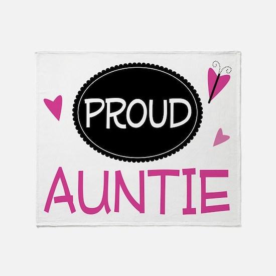 Proud Auntie Throw Blanket