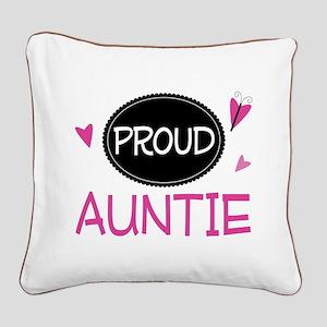 Proud Auntie Square Canvas Pillow