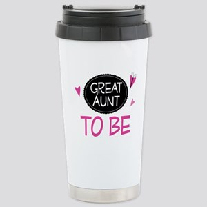Great Aunt To Be Stainless Steel Travel Mug