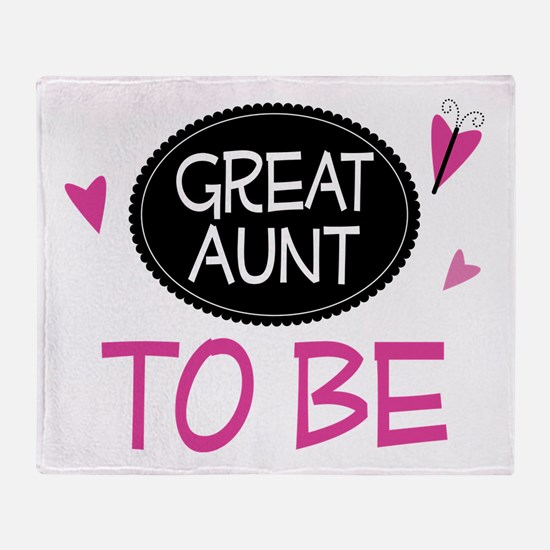Great Aunt To Be Throw Blanket