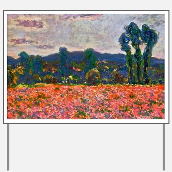 Monet - Poppy Field Yard Sign