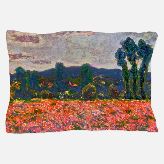 Monet - Poppy Field Pillow Case