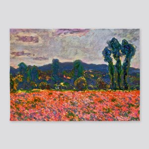 Monet - Poppy Field 5'x7'Area Rug
