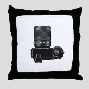 DSLR Camera Throw Pillow