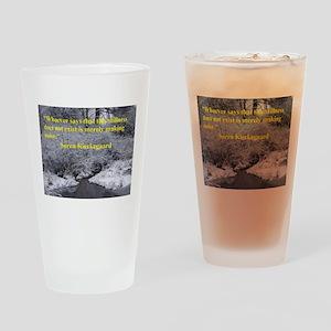 Soren Kierkegaard Drinking Glass
