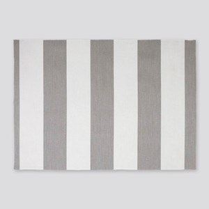 Manly Gray stripes 5'x7'Area Rug